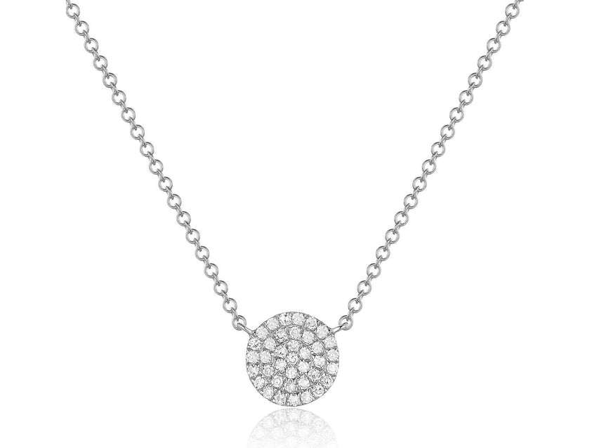 Small Pave Diamond Disc