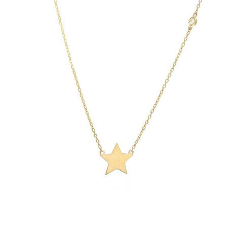Star Necklace with bezel diamond