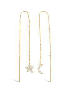 Star and Moon Diamond Threaders