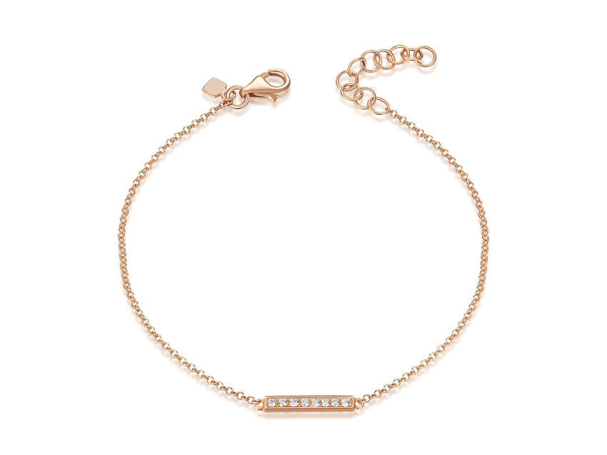 Tiny Diamond Bar Bracelet
