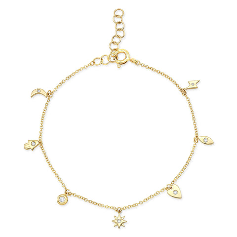 Tiny Charms Diamond Bracelet