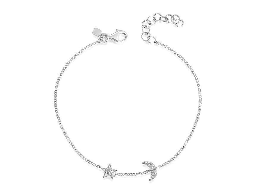 Tiny Star and Moon Bracelet