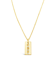 Vertical Diamond Bar Date Necklace