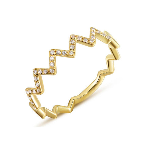 ZigZag Diamond Band