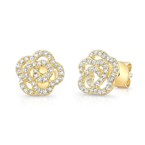 Diamond Rosette Earrings