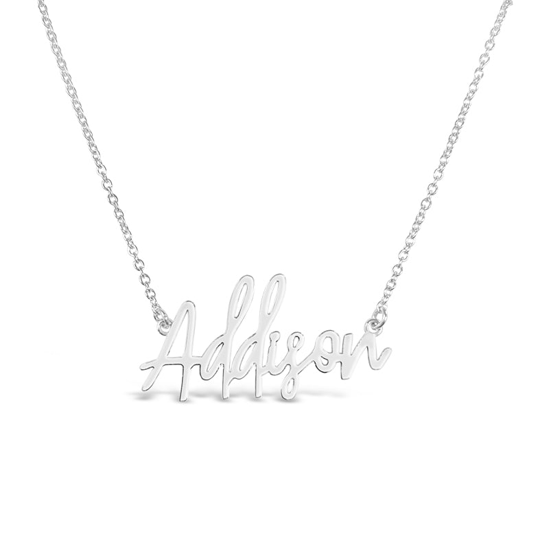 Handwritten Gold Name necklace