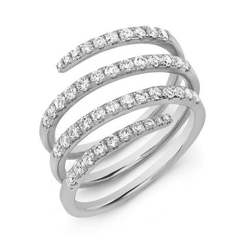 Large diamond swirl ring