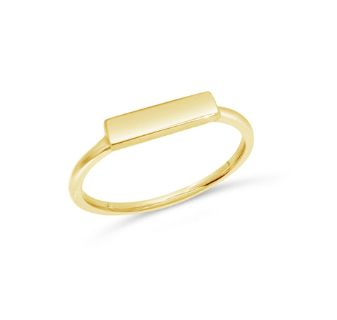 Mini Rectangle signet ring