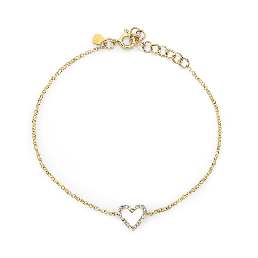 Diamond Open Heart Bracelet