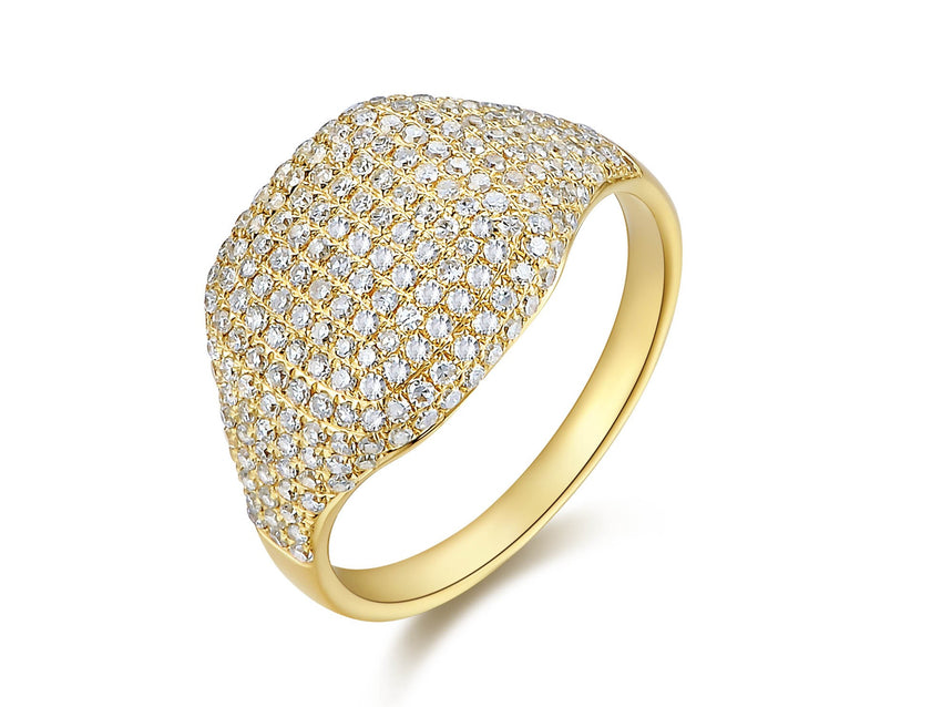 Diamond Pave Dome Ring