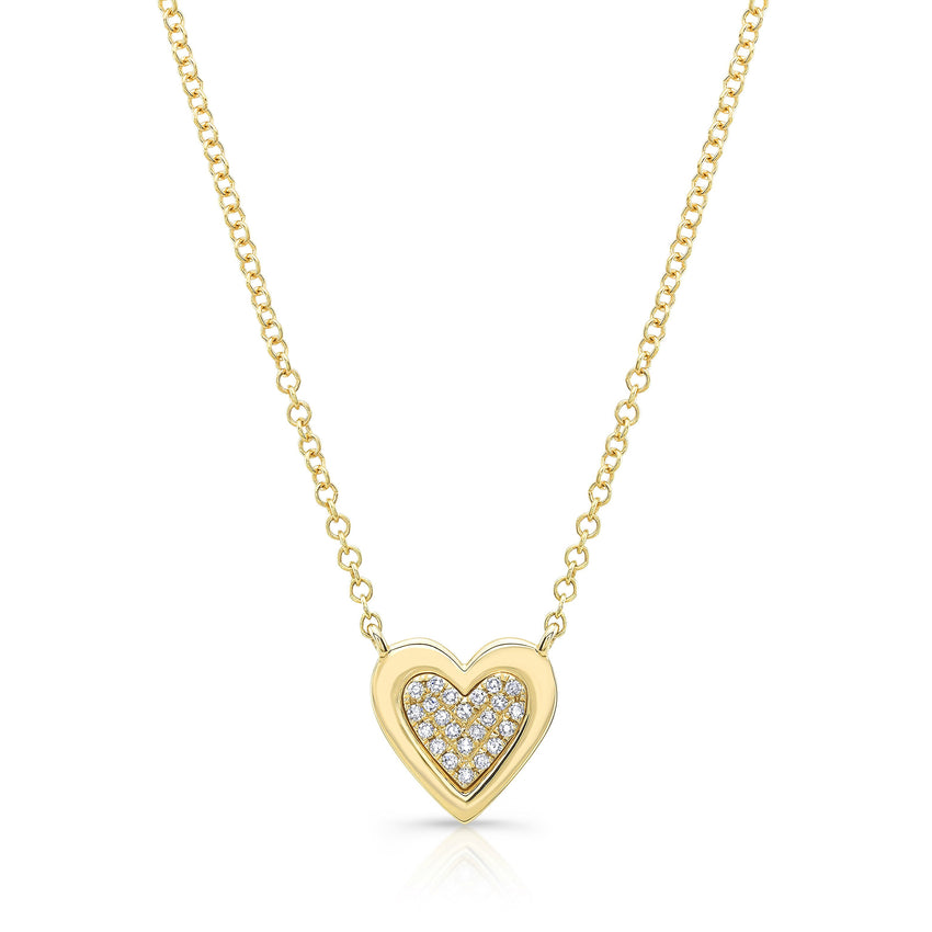 Pave Heart Solid Edge