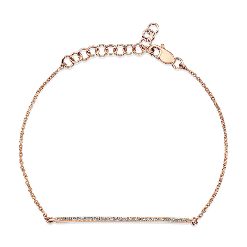 Skinny Diamond Bar Bracelet