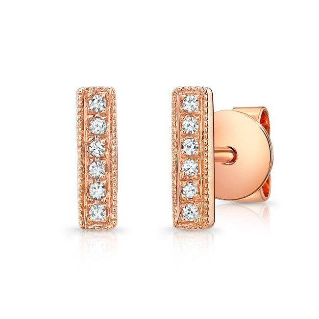 Tiny Bar Diamond Earrings