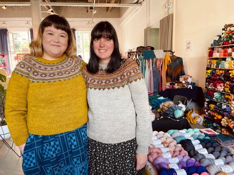Aimée and Nadia in Azucena in La Bien Aimée Corrie Worsted