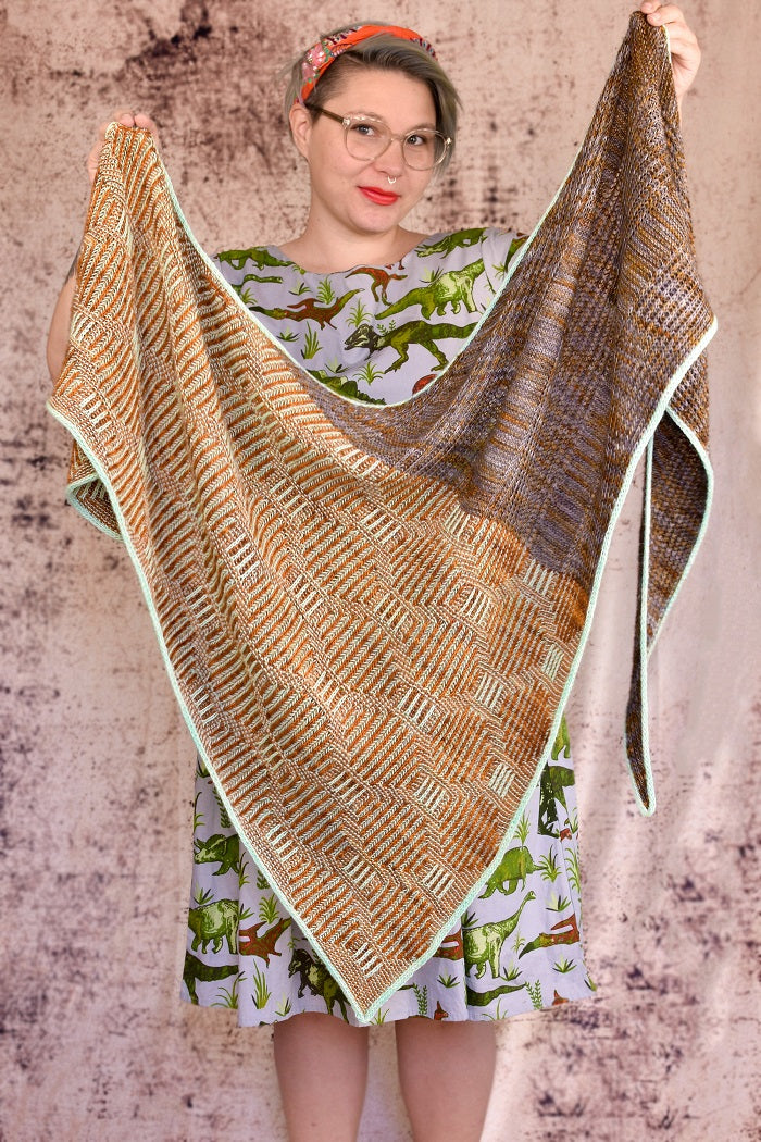 Brioche Tiles Shawl Kit
