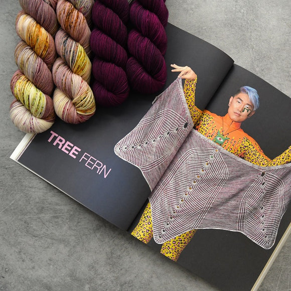 Tree Fern Shawl Kit
