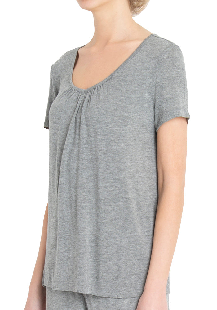 Short Sleeved V-Neck Tee