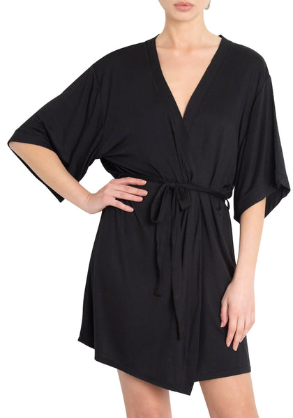 Short Wrap Robe