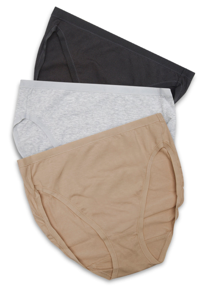 Cotton Stretch Hi-Cut (3 pack) Plus