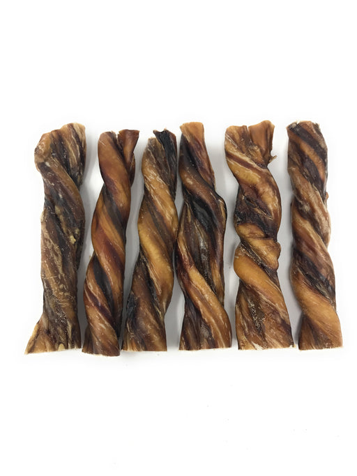 6-Inch Nebraska Beef Thick Pizzle Steer Twists - 20% OFF Limited Time!