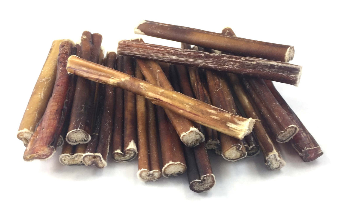 6-Inch Traditional Irregular Bully Sticks- low to moderate odor-Buy Bulk & Save