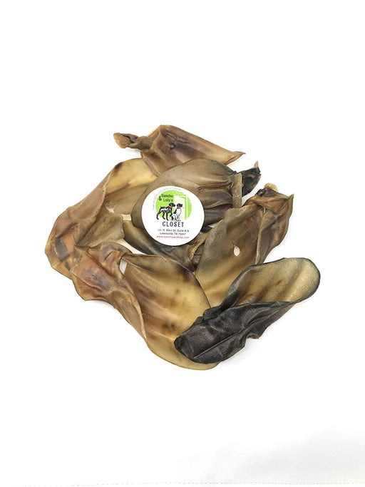 10-Pack Roasted Natural Cow Ear Chews for Dogs Made in USA No Growth Hormones, Additives or Harmful Chemicals Natural Source of Collagen