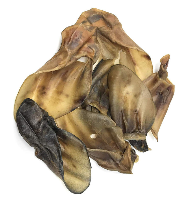 Roasted Natural Cow Ear Chews for Dogs Made in USA No Growth Hormones, Additives or Harmful Chemicals Natural Source of Collagen