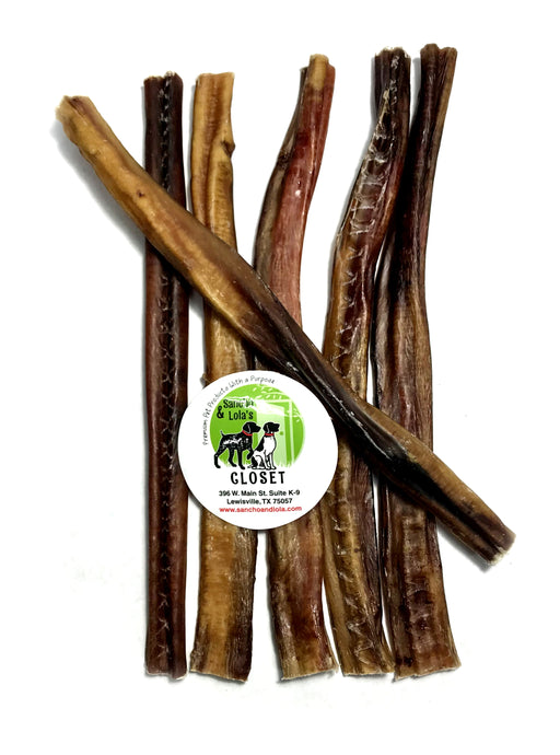 12-Inch Charcuterie Style Bully Sticks - No Odor