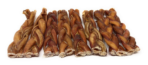 6-Inch Gourmet Bully Stick Braids, Rawhide-Free Chews- moderate odor