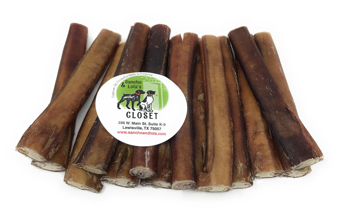6-Inch Traditional Thick Bully Sticks- moderate odor-Buy Bulk & Save!