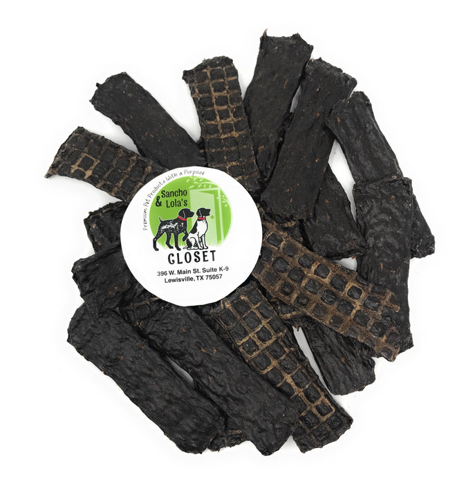 New!  Premium Kangaroo Jerky Strips Dog Treats, 8-oz bag