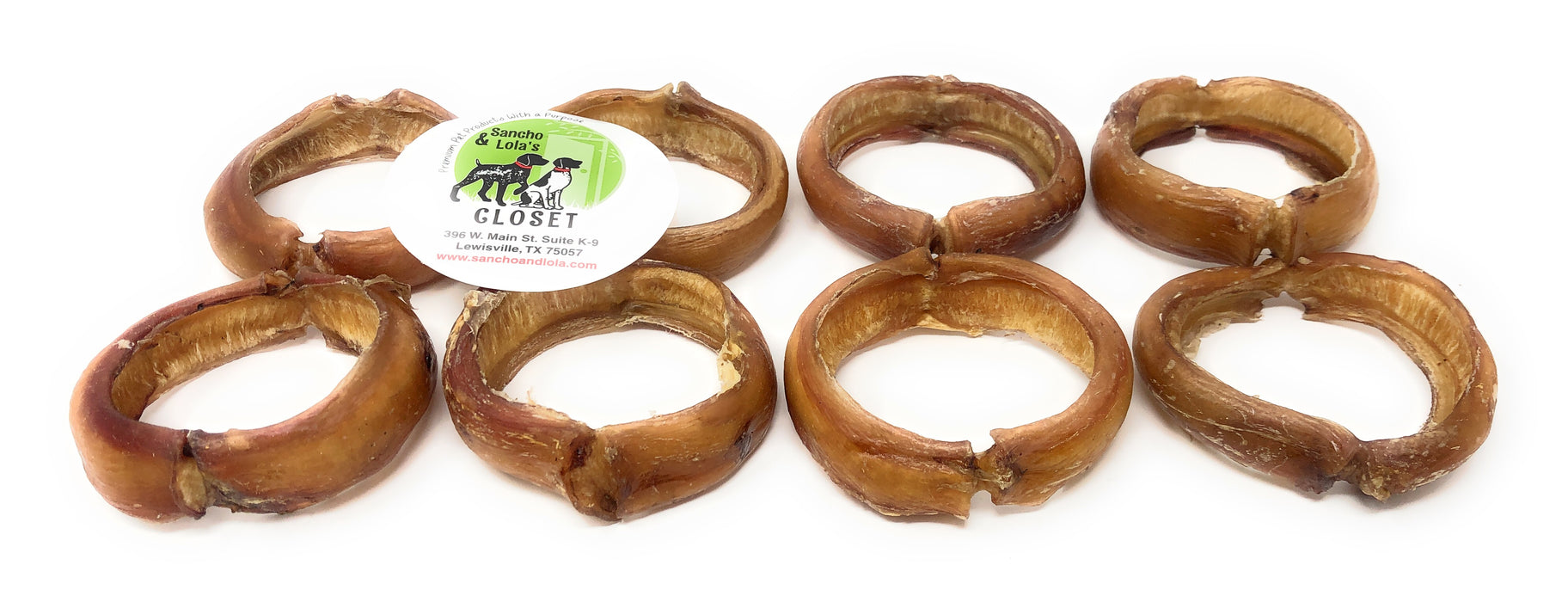 "Gourmet 3"" Gentle Beef Bully Rings - moderate odor"