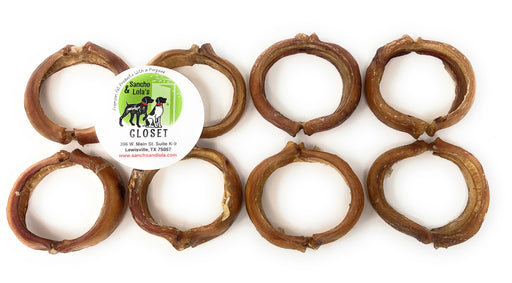 "SALE! 3"" Hoop, Ring Bully Stick Gourmet Beef Pizzle Beef - Gentle Rawhide-Free Chews"
