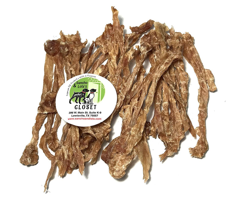 TWISTED Turkey Tendons for Dogs (Non-Smoked) - Made in USA - Naturally Grain-Free Rawhide-Free Chews Dogs