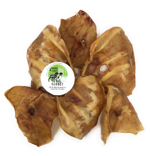 Jumbo Delicious All-Natural Pig Ears for Medium to Large Dogs - Rawhide-Free Dog Chews