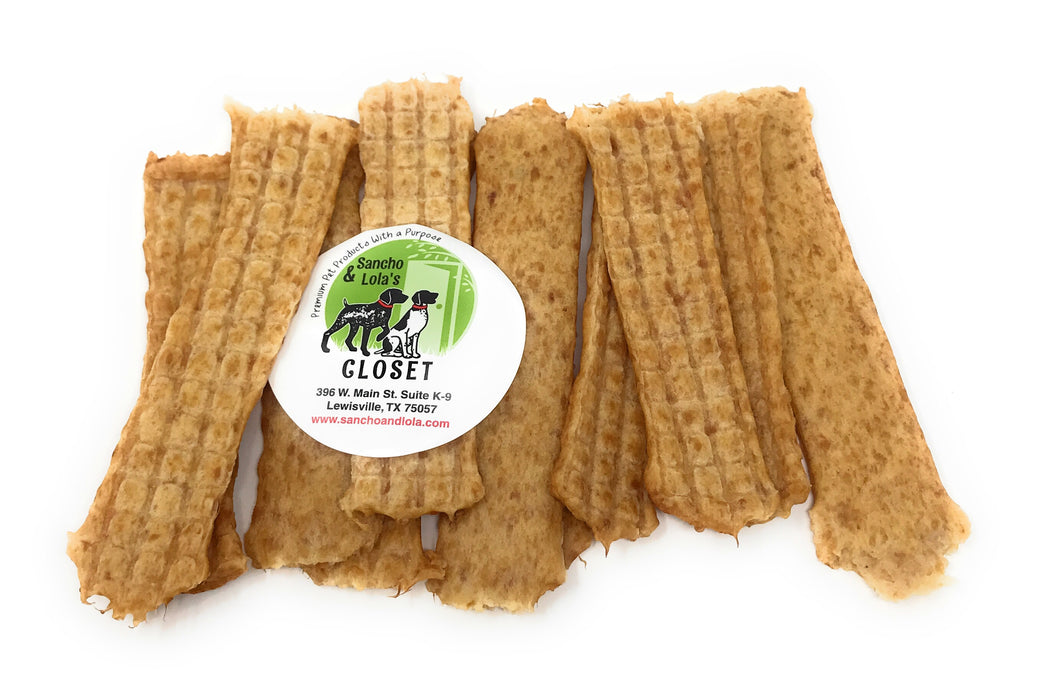 Soft Chicken Breast Jerky Strips - Human-Grade - Hackberry