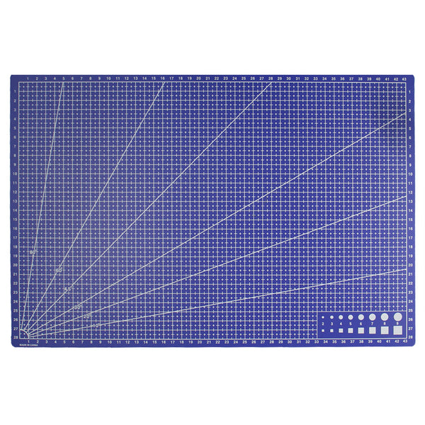 A3 Pvc Rectangle Grid Lines Cutting Mat