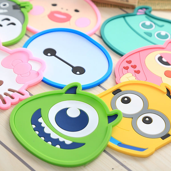 1 Pcs Silicone Dining Table Placemat Mug Cartoon Animal