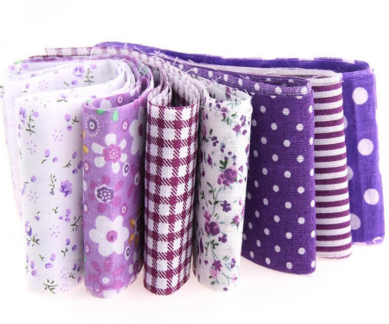 7-Piece Jelly Roll Tissue Fabric Strips Purple