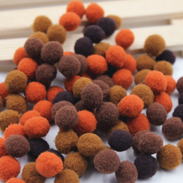 100Pcs Colorful Pompom Ball Fur Ball Plush