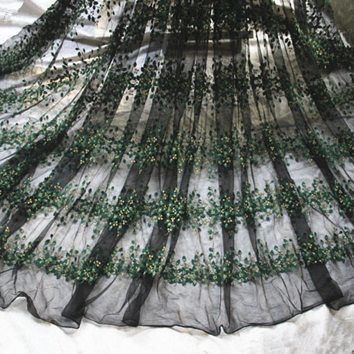"51"" Wide  Embroidery Tulle Lace Fabric"