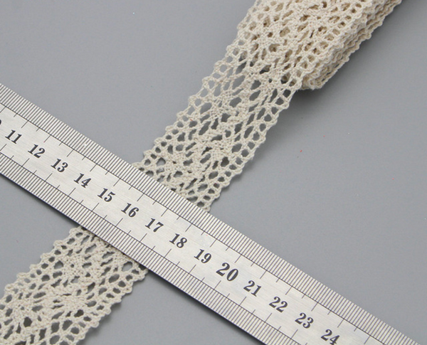 Ivory Trim Cotton Crocheted Lace