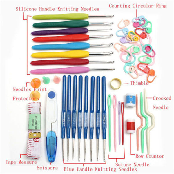 Accessory Handle Crochet Hooks Knitting Needles Kit Set