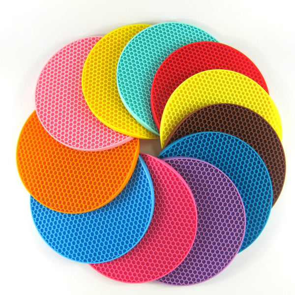 7inches Round Heat Resistant Silicone Mat