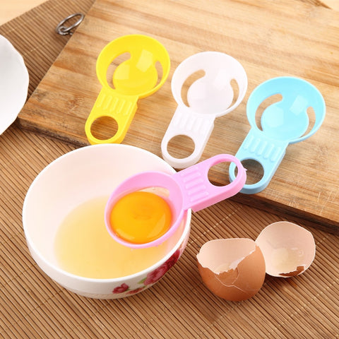 1Pc Creative Color Short-handed Egg White Separator