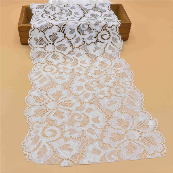 1Yard High Quality Stretch Elastic Lace Ribbon