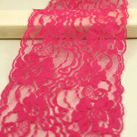 "1Yards  5"" Rose Red No Stretch Lace Garment"