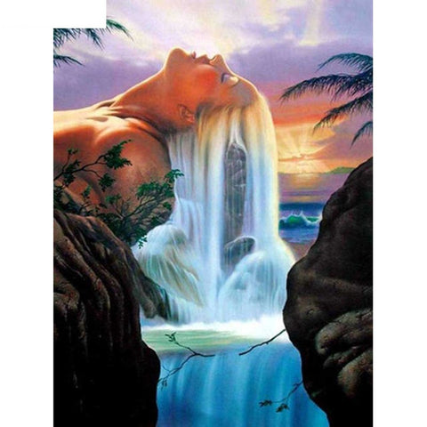 "Full Square Diamond 5D Diamond Painting ""Beautiful Sea View"""