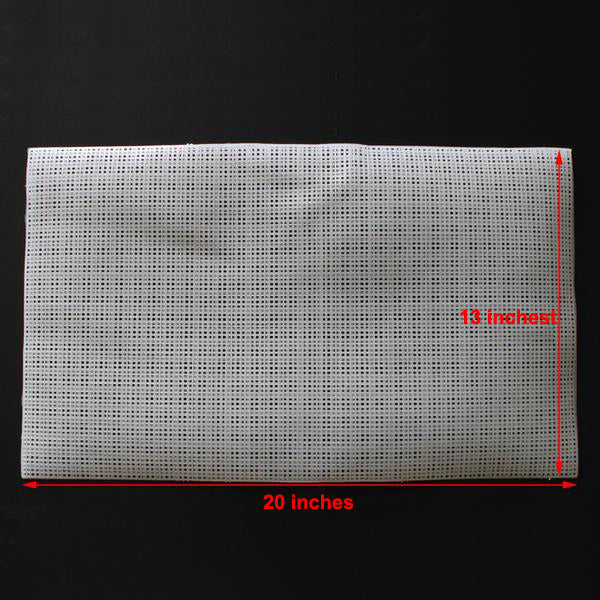 "High Quality Square Plastic Mesh Grid (20"" x 13"")"