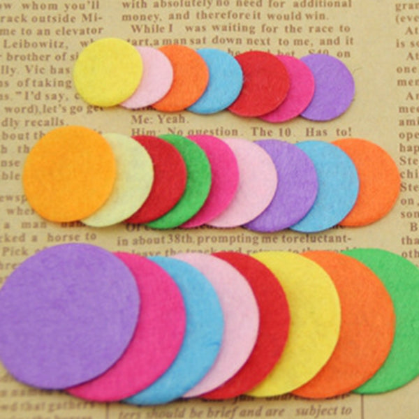 200pcs Artificial Non Woven Felt Fabric Round Felt